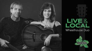 live and local at jules' event graphic featuring wheelhouse duo